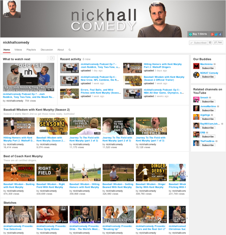 nickhallcomedy Youtube Screenshot